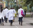 Veterinary students on campus veterinary University Vienna